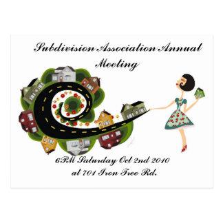 Reunião anual da associação da subdivisão cartões postais