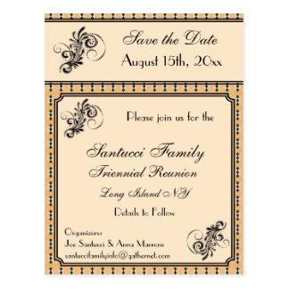 Reunião do design do vintage, evento, economias do cartão postal