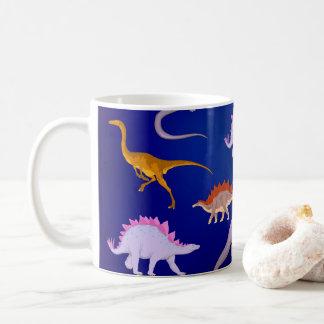 Reunião dos dinossauros caneca de café