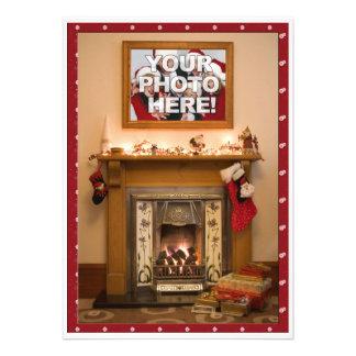 Reunião elegante da festa de Natal família da lare Convites Personalizados