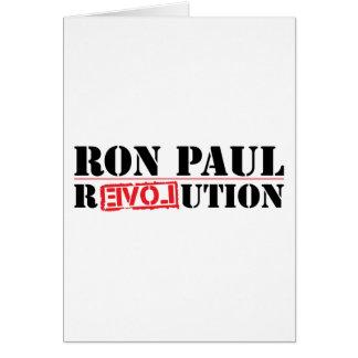 Revolução de Ron Paul Cartão