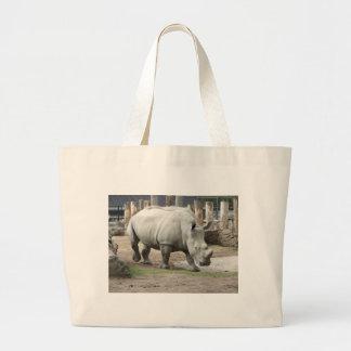 Rhinos brancos do norte pstos em perigo sacola tote jumbo