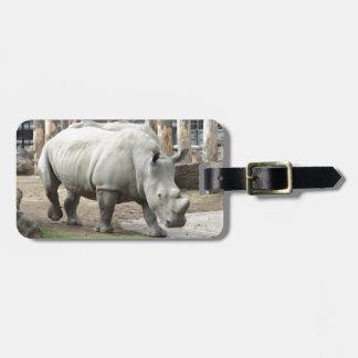 Rhinos brancos do norte pstos em perigo tag para bagagem