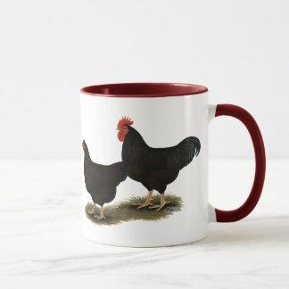 Rhode - galinhas anãs do vermelho da ilha caneca