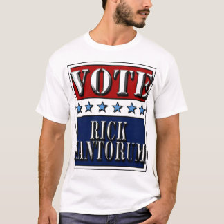 Rick Santorum 2012 do voto - t-shirt
