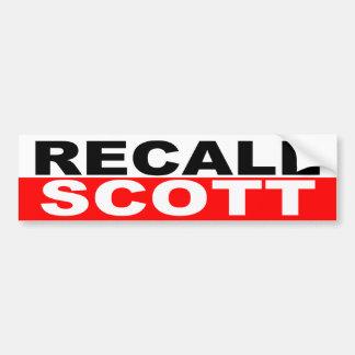 Rick Scott do governador do aviso Adesivo Para Carro