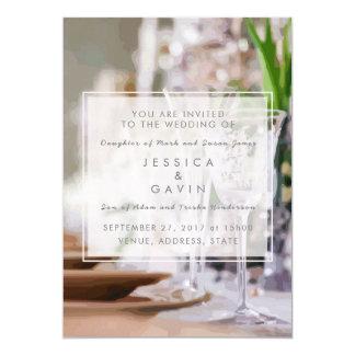 Rico do convite do casamento