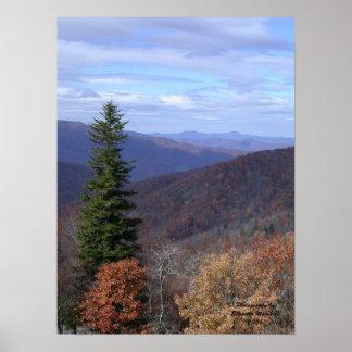 Ridge azul, byEllenetta Marshall2006 da fotografia Poster