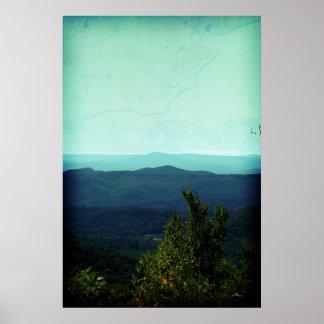 Ridge azul poster