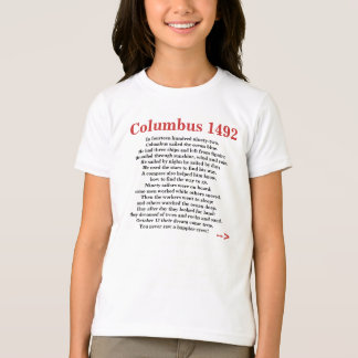 Rima 1492 do poema do Dia de Colombo Tshirt