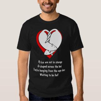 Rima das peles com ratos camiseta