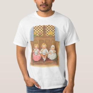 Rima de berçário das crianças quentes do papa de tshirts