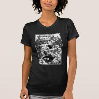 Rima de berçário do vintage de Jack e de Jill T-shirts