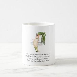 Rima vegetal da planta de ostra do poema do caneca de café