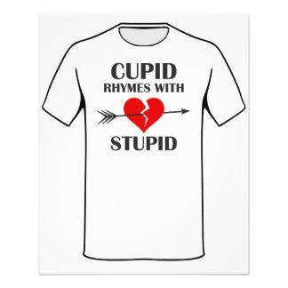 Rimas do Cupido com dia dos namorados estúpido Flyer 11.43 X 14.22cm