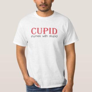 Rimas do Cupido com estúpido Camiseta