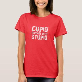 Rimas do Cupido com estúpido Tshirts