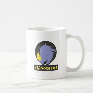 rinoceronte bonito caneca de café