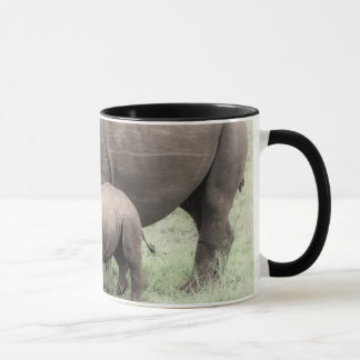 Rinoceronte & caneca brancos do bebê