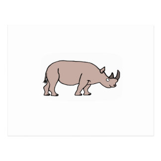 Rinoceronte Cartao Postal