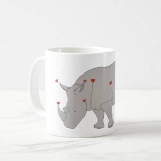 Rinoceronte do calor caneca de café