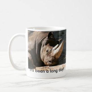 Rinoceronte foi um dia longo! Canhoto Caneca De Café