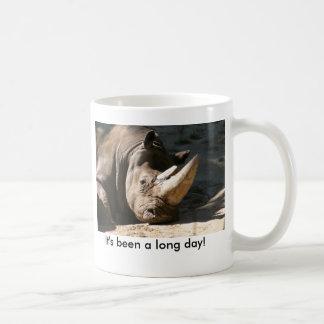 Rinoceronte foi um dia longo! Destro Caneca De Café