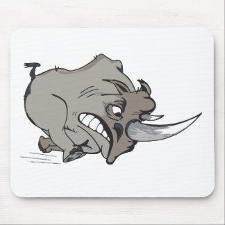 rinoceronte furioso - angry rhino banda desenhada  mouse pad