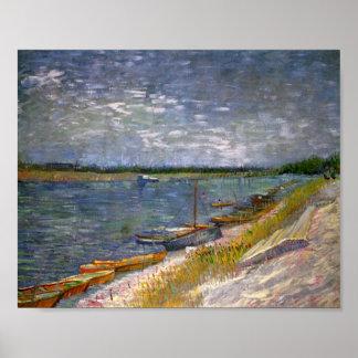 Rio & belas artes de Van Gogh dos barcos de Poster