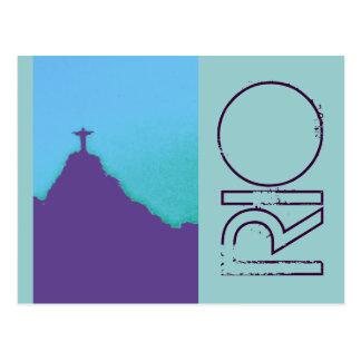 Rio Corcovado Cristo Cartão Postal