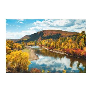 Rio de Yampa no outono Impressão Em Tela
