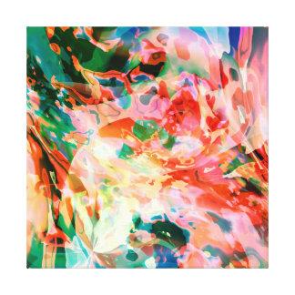 Rio fluido das cores impressão em tela