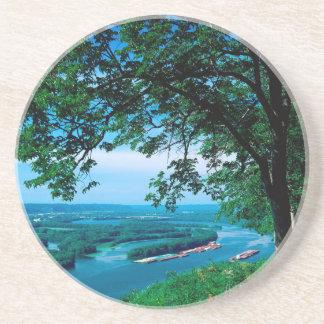 Rio Mississippi Mcgregor Iowa Porta Copos De Arenito