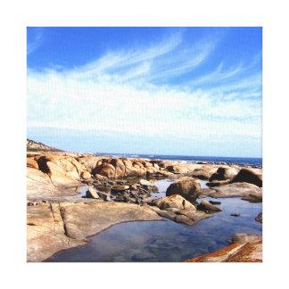 Rio pelas canvas da fotografia do mar impressão em tela