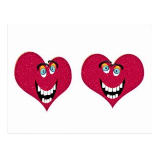 Rir corações cartão postal