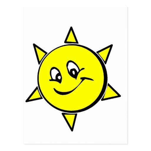Rir sol cartões postais
