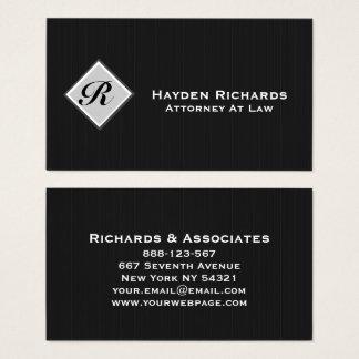 Riscas do preto do advogado do advogado do cartão de visitas