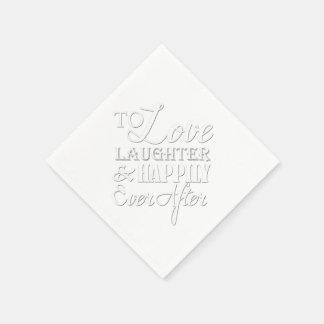 Riso do amor feliz nunca após Wedding o guardanapo