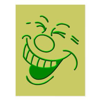 Riso laughing laugh cartão postal