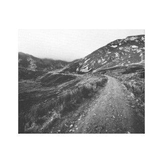 Roadtrip no impressão preto e branco da foto