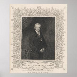 Robert deposita Jenkinson ò conde de Liverpool Impressão