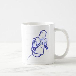 robô adolescente caneca de café