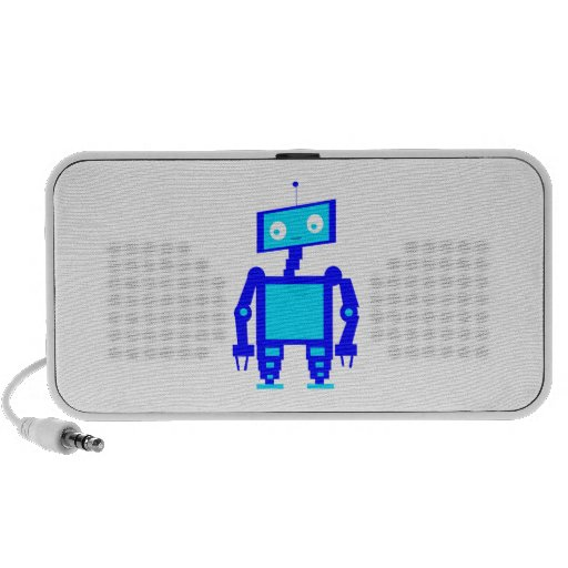 Robô bonito caixinhas de som de viagem
