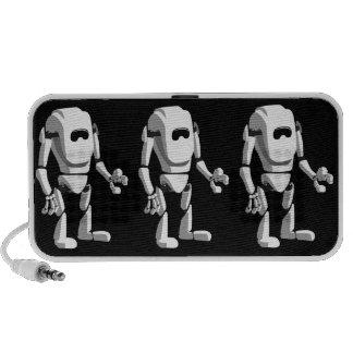 robô bonito caixinha de som para mini