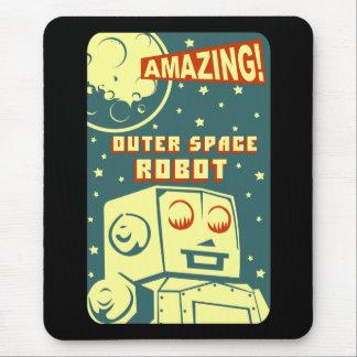 Robô de espaço surpreendente mouse pad