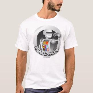Robô do poder da máquina de venda automática tshirt