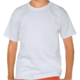 Robô; Escarlate das listras do vermelho T-shirts