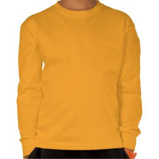 Robô feliz do canto miúdos amarelos Longo-Luva Tshirts