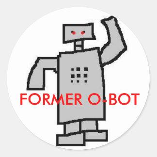 robô, O-BOT ANTERIOR Adesivo