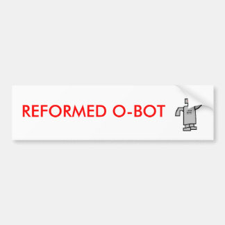 robô, O-BOT REFORMADO Adesivo Para Carro